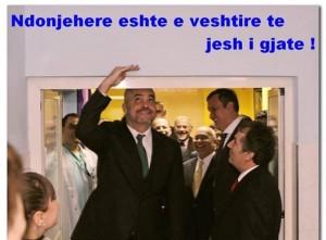 Edi Rama me Ambasadorin Alexander Arvizu në spitalin e Lezhës