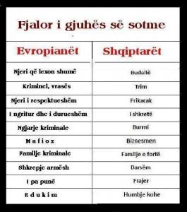 Evropiant vs Shqiptart